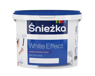 Фарба Śnieżka White Effect МАТОВА АКРИЛОВА ФАРБА ДЛЯ СТІН ТА СТЕЛЬ